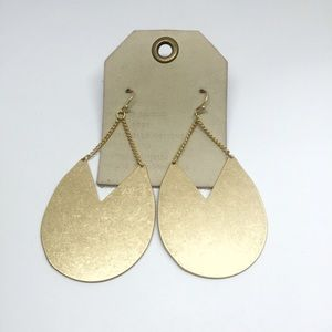 NWT Anthropologie gold earrings